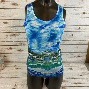 One World Color Wash Blue Tank